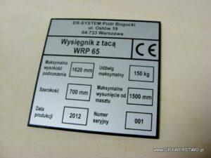 Tabliczka znamionowa grawerowana z laminatu lz 993